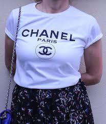 chanel shirt. chanel paris tshirt woman tee by streetfashiontee shirt g