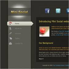 Free Html Website Templates Extraordinary Mini Social Free Website Templates In Css Js Format For Free