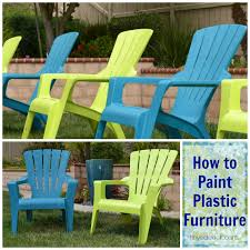 how to paint plastic furniture for my plastic tables bins at school