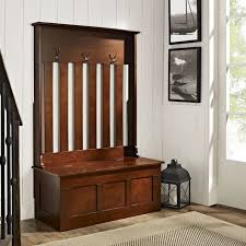 Wooden Coat Rack With Storage entryway wood hall tree coat rack storage bench Entryway Storage 40