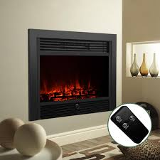 embedded 28 5 electric insert heater fireplace log flame remote view 1 of 12free see more