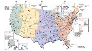time zone map usa with cities with zones  roundtripticketme