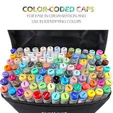 Caliart Markers 100 Color Chart Details About Caliart 100 Markers Colors Artist Alcohol Based Dual Tip Permanent Drawing Twin