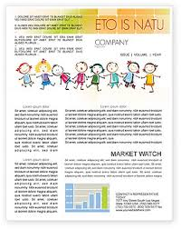 Education Newsletter Templates Funny Newsletter Templates In Microsoft Word Adobe