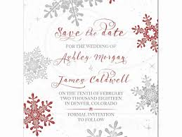 Christmas Wedding Save The Date Cards Save The Date Wedding Cards Lovely Red Silver Snowflake Winter