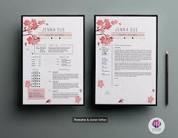 Floral Resume Template Resume Templates On Thehungryjpeg Com 1506