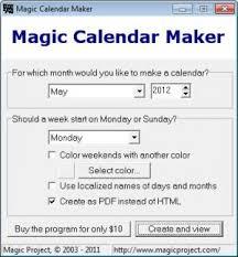 Clander Maker Download Magic Calendar Maker Free