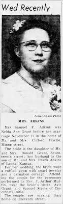 Nelda Ann Grant Adkins & Samuel F Adkins Wed Annc - Newspapers.com