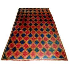 traditional rug geometric wool rectangular taznakht berber vintage
