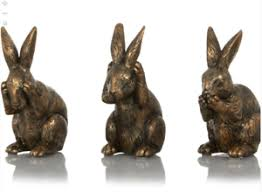 Rabbit Decorative Accessories New Set of 100 Bronze Rabbit Hare Bunny Ornaments Home Decorative 30
