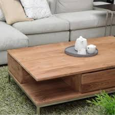 ethnicraft teak essential 2 drawers coffee table