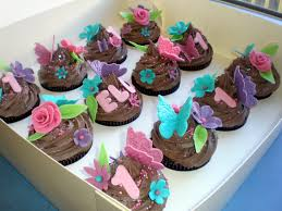 Beauteous Butterfly Themed Cupcake Idea With Chocolate Swril For