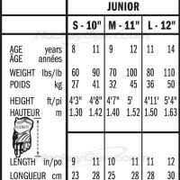 Bauer Flex Pant Size Chart Hockey Glove Sizing Chart Bauer Images Gloves And