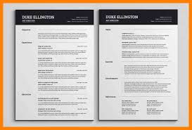 Two Page Resume Format Simple 28 Page Resume Format Pages Two Sample 28 Cover Letter 28 Endowed Or
