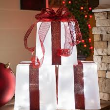 Diy Christmas Decorations Diy Christmas Decorations 4 Lighted Gift Boxes