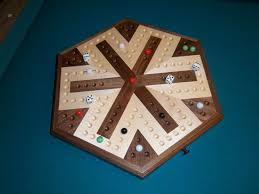 Wooden Aggravation Game Inlaid Wooden Maple and Walnut 100 Player Aggravation Board games 18