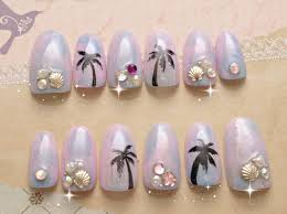 Pastel nails 3D nails ombre tie dye beach tropical ombre