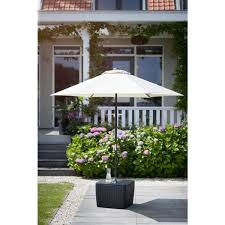 keter patio umbrella base table in