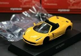 164 kyosho ferrari 458 italia 2009 2015 yellowoption niki lauda rims wheels se ebay. Kyosho 1 64 Ferrari Collection 9 458 Italia Spider 2011 Type F142 Yellow Ebay