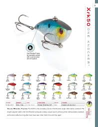 Xcalibur One Knocker 2013 Color Chart Bait Fishing Lures