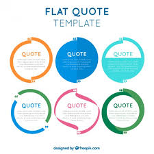 Quote Template Flat quotes template in modern style Vector Free Download 89