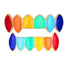 image is loading hip hop 7 color teeth top bottom