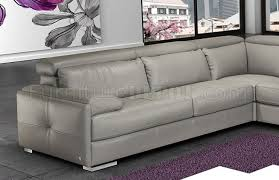 gary sectional sofa in ash gray italian