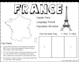 Small Picture worksheets on france for kids Bing images Preschool