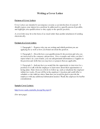 Resume Cover Letter Letters Samples Free With The Purpose Of A