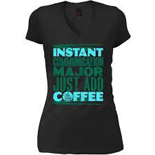 Communication T Shirt Design Amazon Com Instant Communication Major Womens V Neck Tee