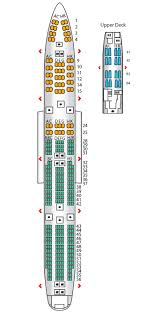 Lufthansa Seating Chart Boeing 747 400 Premium Economy B747 400 Config 2 Lufthansa Seat