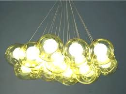 lamp house creative personality restaurant chandelier cafe room color glass bubble simple modern lighting glass bubble chandelier
