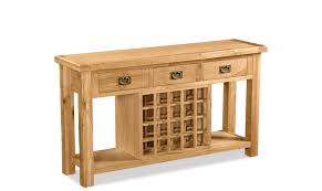 19 Console Table With Wine Storage Canterbury Oak Console Table And