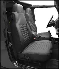 bestop front high back bucket seat covers in e denim for 1997 02 jeep wrangler tj