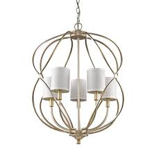 acclaim lighting sharon 5 light indoor antique silver chandelier with shades