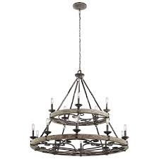 kichler chandelier lighting outdoor landscape ceiling fans bathroom htm taulbee weathered zinc light fixtures vancouver cascading mission rectangular