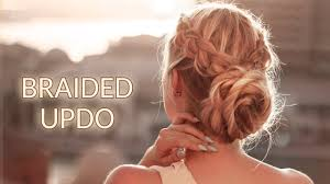Braided Updo Hairstyle For Christmas Holidays New Year Party