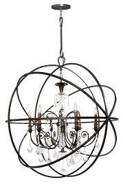 round wrought iron chandelier sound co benita antique black iron orb