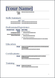 19 Best Of Resume Format Word File Download Wtfmaths Com