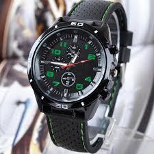 luxury men silicone analog sport quartz black watches boys wrist luxury men silicone analog sport quartz black watches