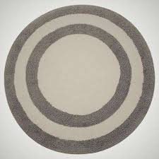 two tone 36 in round cotton reversible gray white 200 gsf machine washable bath
