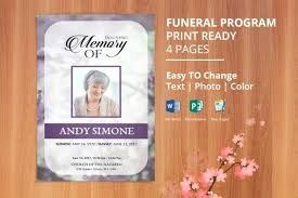 microsoft office funeral program template printable funeral program template memorial obituary editable with