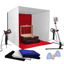 photo studio 24 photography light tent background kit 50w halogen lamp w stand