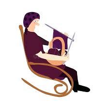 rocking chair silhouette. Modren Silhouette Grandma In Rocking Chair Clipart Grandmother Silhouette  Grandmas With Rocking Chair Silhouette