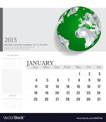 Simple 2015 Calendar Simple 2015 Calendar January Royalty Free Vector Image