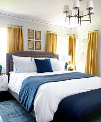 Pretty Bedroom Curtains Mustard Yellow Curtains Give The Perfect Classic Pop To This