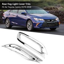 <b>2Pcs ABS Rear Tail</b> Fog Light Lamp Cover Trim for Toyota | Shopee ...