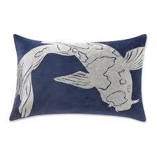 navy blue lumbar pillow. Plain Lumbar Koi Zardozi Lumbar Pillow Cover 14 Intended Navy Blue D
