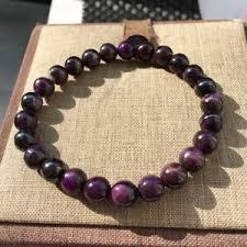 7.8mm <b>Certificate Natural</b> Sugilite Royal Purple Round Beads ...