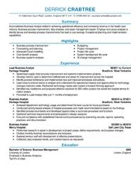 business analyst resume example how should my resume be formatted